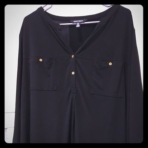 Ellen Tracy blouse with little gold buttons